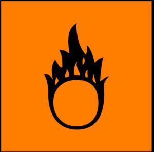 Oxidizing hazard symbol